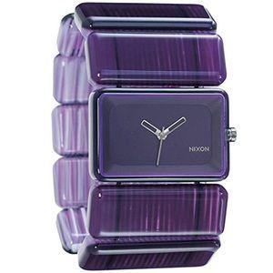 Nixon The Vega Purple Marble Women's Watch